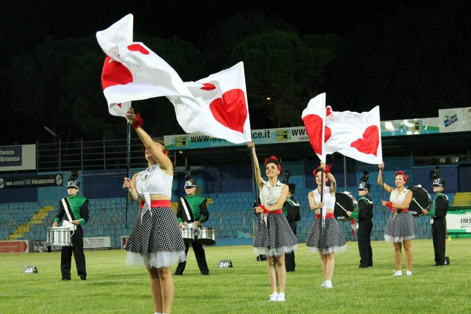 Majorette marching band